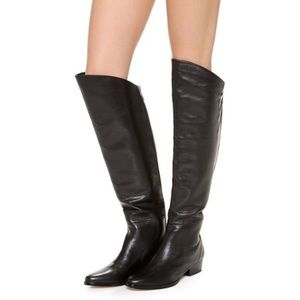 Dolce Vita Over-The-Knee Boots In Black Leather